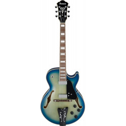 Ibanez GB10EM JBB EG Hollow Jet Blue Burst George Benson