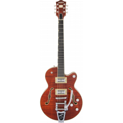 G6659TFM Players Edition Broadkaster® Jr. Center Block Single-Cut with String-Thru Bigsby® and Flame Maple, Ebony Fingerboard, B