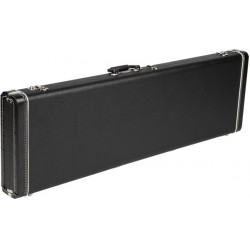 Fender Deluxe Bass VI Hardshell Case, Black with Red Crush Interior